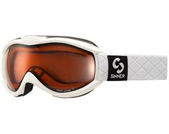 Toxic Ski Goggles (Matt White/Double Orange)