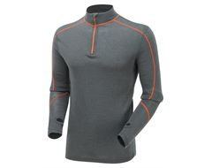 Merino Contrast Zip Top Baselayer
