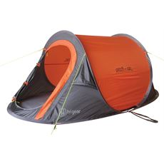 Pitch and GO SS - 2 Berth Pop-Up Tent (Black/Orange)