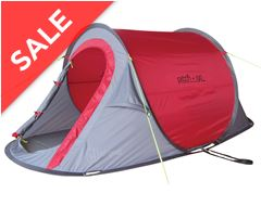 Pitch and GO SS - 2 Berth Pop-Up Tent (Red)