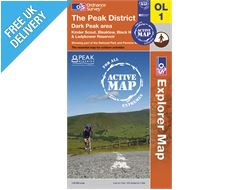 Explorer Active Map OL1 The Peak District (Dark Peak)