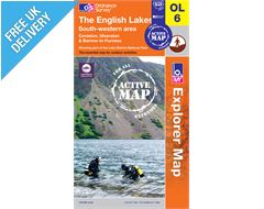 Explorer Active Map OL6 The Lake District (South-Western area)