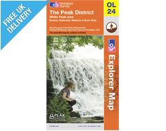 Explorer Map OL24 The Peak District (White Peak)