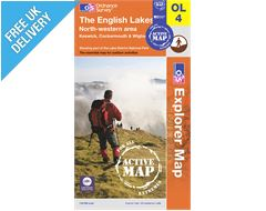 Explorer Active Map OL4 The Lake District (North Western Area)