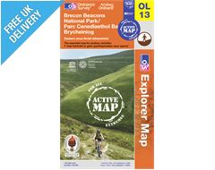 Explorer Active Map OL13 Brecon Beacons (Eastern Area)
