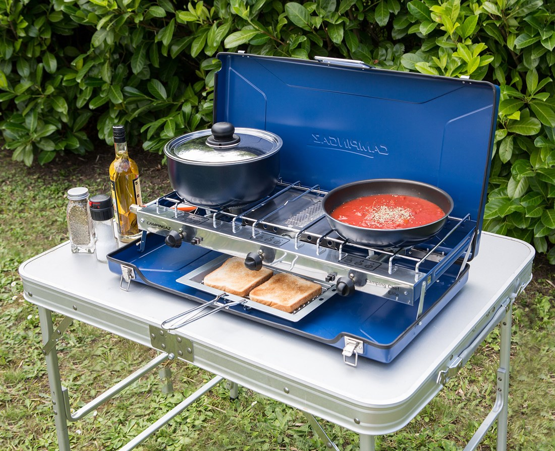 Campingaz Elite Camping Chef Double Burner And Grill