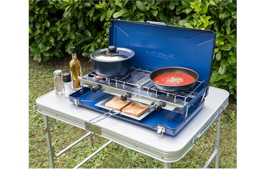 Campingaz Elite Camping Chef Double Burner And Grill Go