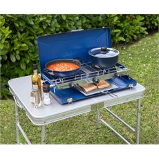 Elite Camping Chef Double Burner and Grill