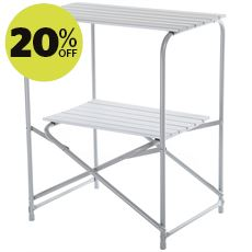 Compact Double Shelf Kitchen Stand