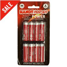 AA Zinc Power Batteries (8 pack)