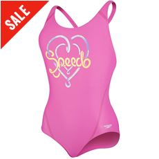 Girls' Logo Placement Splashback Swimsuit