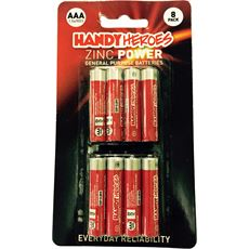 AAA Zinc Power Batteries (8 pack)