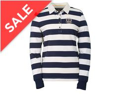Lena Ladies' Striped Rugby Shirt