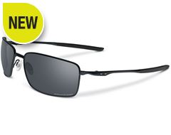 Polarised Square Wire Sunglasses (Matte Black/Black Iridium Polarised)