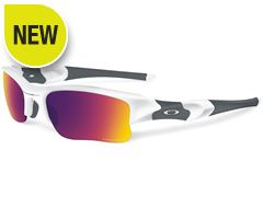 PRIZM Road Flak Jacket XLJ Sunglasses (Polished White/Black Iridium)