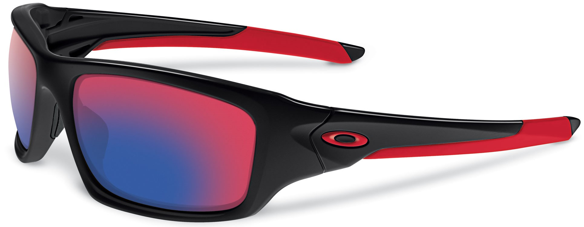 red and black oakleys  Oakley Valve Sunglasses (Polished Black/Positive Red Iridium)