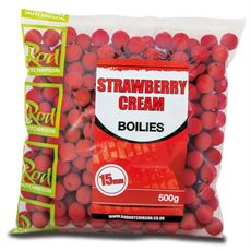 Strawberry Cream Boilies 15mm (500g)