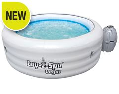 Lay-Z-Spa 'Vegas' Inflatable Hot Tub (with Clearwater Chemical Starter Kit)