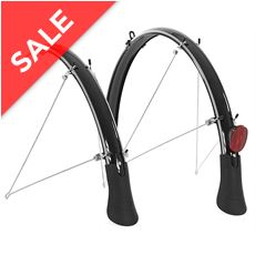 Elements Flare Mudguards (700c x 45mm, Black)