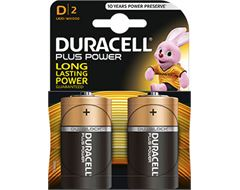 Duracell Plus Power D (2 Pack)