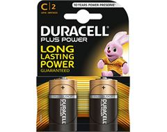 Duracell Plus Power C (2 Pack)