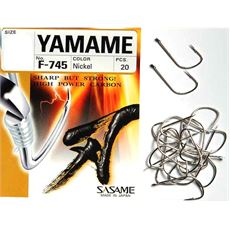 F-745 Yamame-Nickel Hooks (size 6, pack of 20)