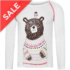 Beau Bear Long Sleeve Kids' Tee (Sizes 2-6)