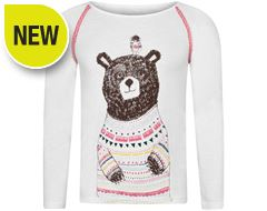 Beau Bear Long Sleeve Children's Tee (Sizes 7-12)
