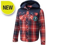 Lumberjack Long Sleeve Junior Hooded Shirt (Sizes 13-16)