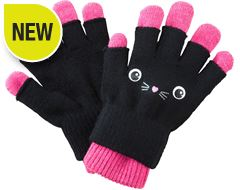 Kitten 2-in-1 Kids' Gloves