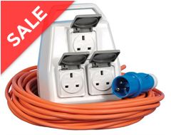 Delta 3 Socket Mobile Mains Kit - 20m cable