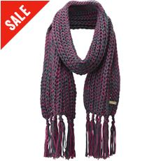 Harridge Textured Knit Tassel Scarf