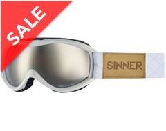 Toxic S Ski Goggles (Matte White/Double Orange Mirror)