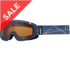 Visor III OTG Ski Goggles (Clear Matte Blue/Double Orange Vent.)