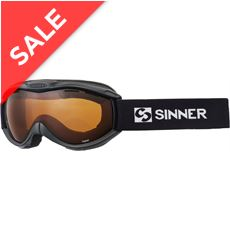 Toxic Ski Goggles (Matte Black/Double Orange)