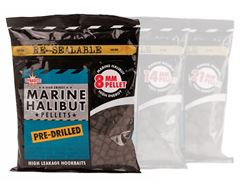 Marine Halibut Pellets, Pre-Drilled 8mm (350g bag)