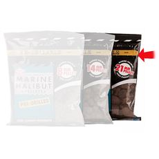 Marine Halibut Pellets, Pre-Drilled 21mm (350g bag)