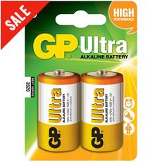 Ultra Alkaline Batteries (2 x D)