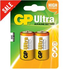 Ultra Alkaline Batteries (2 x C)