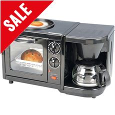 3-in-1 Combination Oven, Grill & Coffee Maker