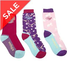 Lilium Children's 3 Pack Socks.