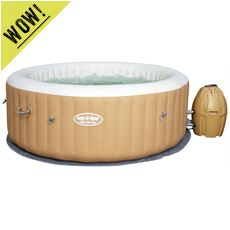 'Palm Springs' Inflatable Hot Tub (includes 2x Hot Tub Drinks Holders)
