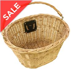 Wicker Bicycle Basket (inc. Bracket)