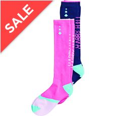 Half Terry Knee-High Socks (2 Pair Pack)