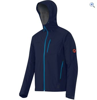 Mammut Kento Mens Waterproof Jacket  Size XXL  Colour Blue