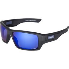 Sunburst Sunglasses (Black/Sintec Blue Revo)