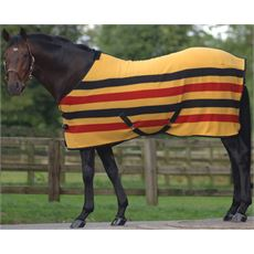 Ascot Stripe Suede Fleece Horse Rug