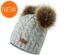 Kids' Bear Pom Pom Hat