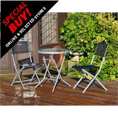 3 Piece Bistro Patio Garden Furniture Set