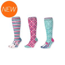 Girls' Superstar Pony 3pk Junior Socks